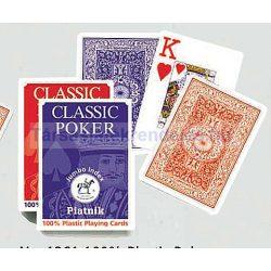 Piatnik 100% plasztik póker kártya nagy index, 1*55 lapos