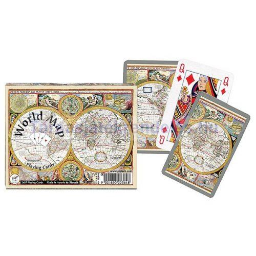 World Map 2x55 lapos luxus römikártya - Piatnik
