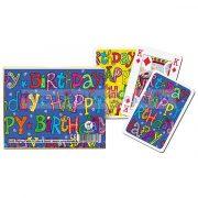 Happy Birthday 2x55 lapos luxus römikártya - Piatnik