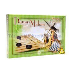 Dáma / Malom Classic társasjáték Piatnik