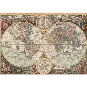 ART 260 db-os Puzzle - Antique World Map - 4276