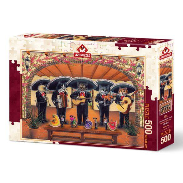ART 500 db-os Puzzle - Flamenco Meow Team - 5082