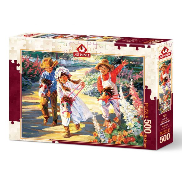 ART 500 db-os Puzzle - Giddy Up! - 5084