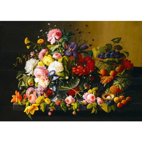 Art by Bluebird 1000 db-os puzzle - Severin Roesen - Still Life, Flowers and Fruit, 1855 - 60030