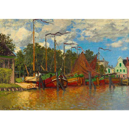 Art by Bluebird 1000 db-os puzzle - Claude Monet: Boats at Zaandam, 1871 - 60031