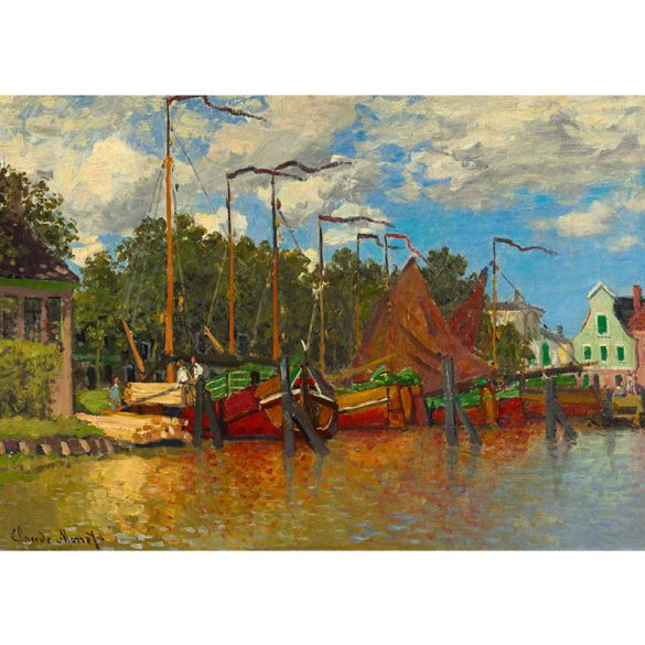 Art by Bluebird 1000 db-os puzzle - Claude Monet: Boats at Zaandam, 1871 - 60031