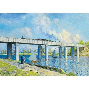 Art by Bluebird 1000 db-os puzzle - Claude Monet: Railway Bridge at Argenteuil, 1873 - 60038