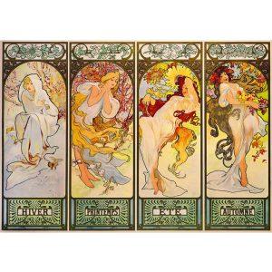 Art by Bluebird 1000 db-os puzzle - Mucha: Four Seasons, 1900 - 60056