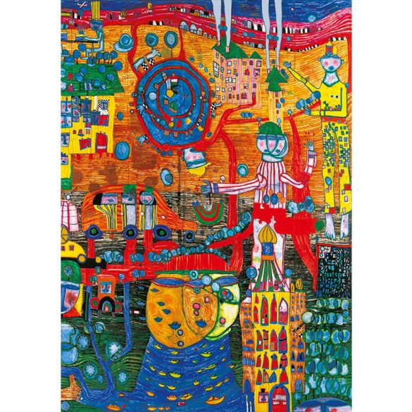 Art by Bluebird 1000 db-os puzzle - Hundertwasser: The 30 Days Fax Painting, 1996 - 60064