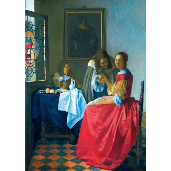 Art by Bluebird 1000 db-os puzzle - Vermeer: The Girl with the Wine Glass, 1659 - 60067