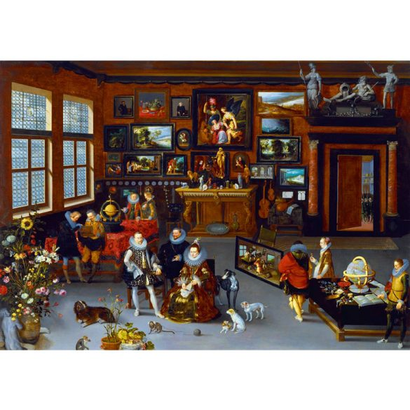 Art by Bluebird 1000 db-os puzzle - Hieronymus Francken Iicirca: The Archdukes Albert and Isabella Visiting a Collector's Cabinet, 1623 - 60077