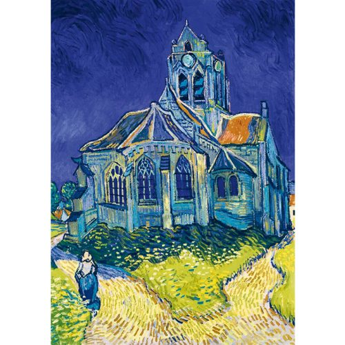 Art by Bluebird 1000 db-os puzzle - Vincent Van Gogh: The Church in Auvers-sur-Oise, 1890 - 60089