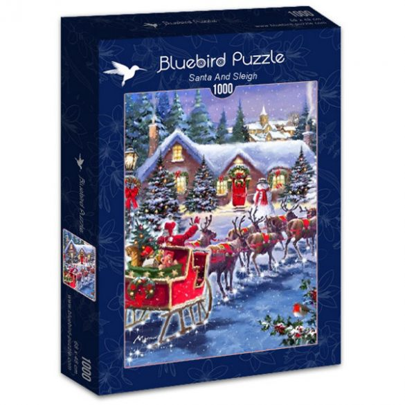 Bluebird 1000 db-os Puzzle - Santa And Sleigh - 70073
