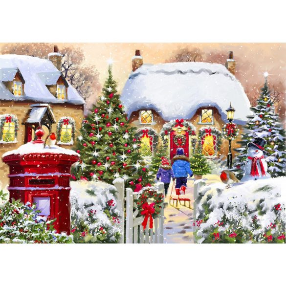 Bluebird 1000 db-os Puzzle - Winter Cottage - 70076