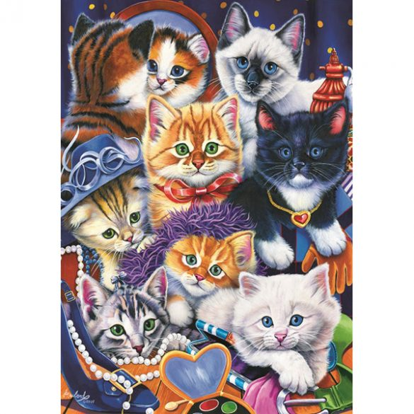 Bluebird 1000 db-os Puzzle - Kittens In Closet - 70087