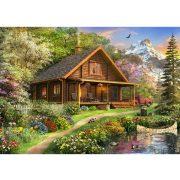 Bluebird 500 db-os Puzzle - A Log Cabin Somewhere in North America - 70118