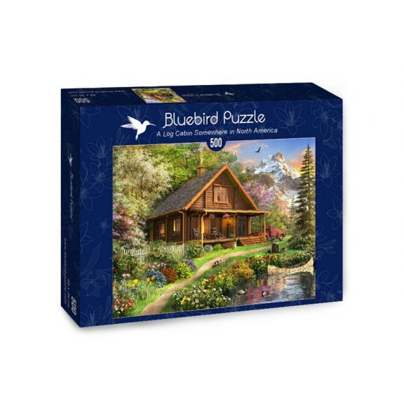 Bluebird 500 db-os Puzzle - A Log Cabin Somewhere in North America - 70118