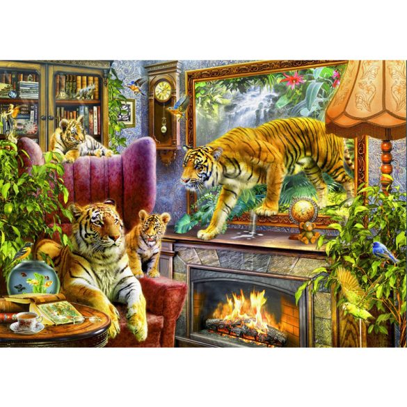 Bluebird Puzzle 2000 db-os puzzle - Tigers Coming to Life 70171