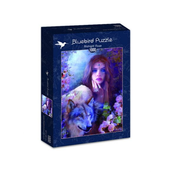 Bluebird Puzzle 1000 db-os puzzle - Midnight Rose 70172