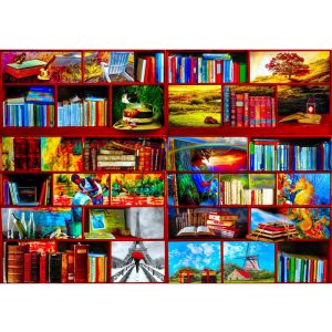 Bluebird 1000 db-os Puzzle - The Library The Travel Section - 70212