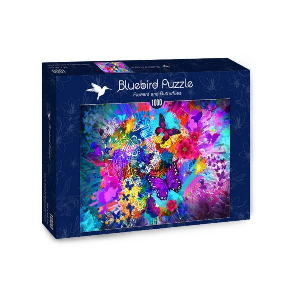 Bluebird 1000 db-os Puzzle - Flowers and Butterflies - 70219