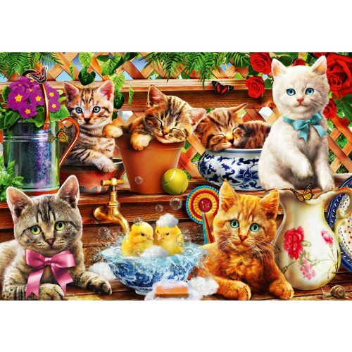 Bluebird 1000 db-os Puzzle - Kittens in the Potting Shed - 70241