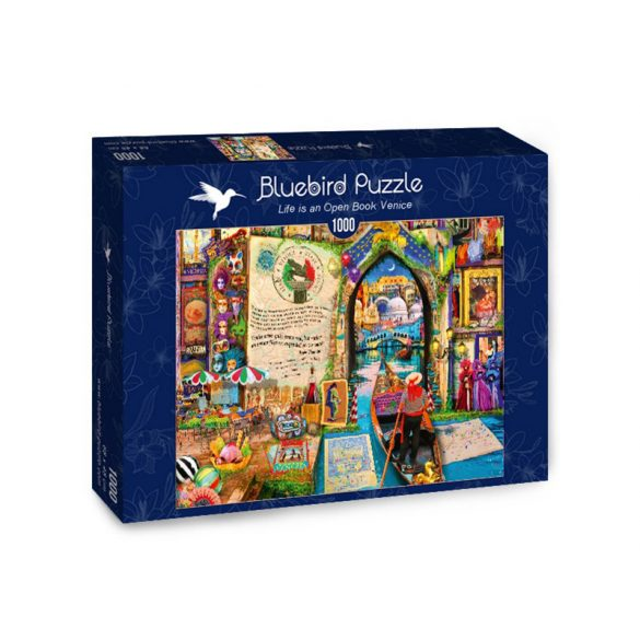 Bluebird 1000 db-os Puzzle - Life is an Open Book Venice - 70242