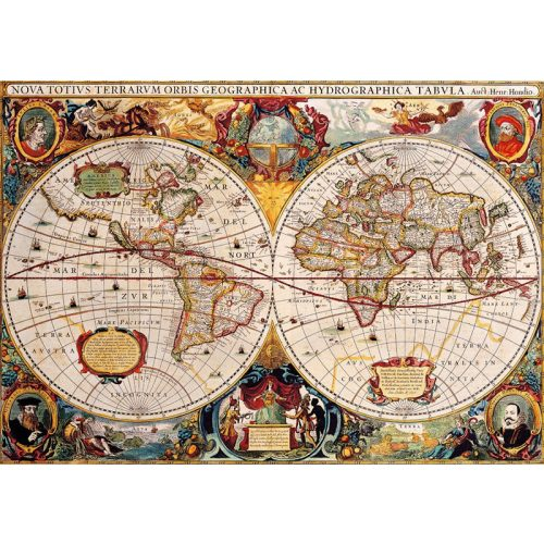 Bluebird 1000 db-os Puzzle - Antique World Map - 70246