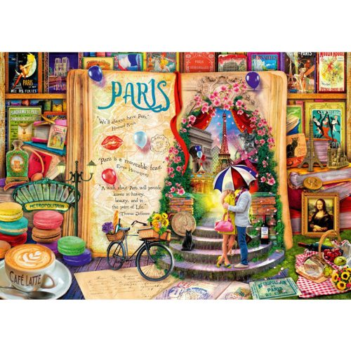 Bluebird 4000 db-os Puzzle - Life is an Open Book Paris - 70262