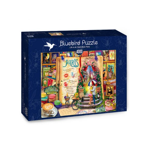 Bluebird 4000 db-os Puzzle - Life is an Open Book Paris - 70262