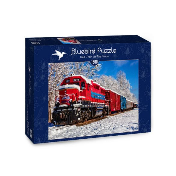 Bluebird 1500 db-os Puzzle - Red Train In The Snow - 70282