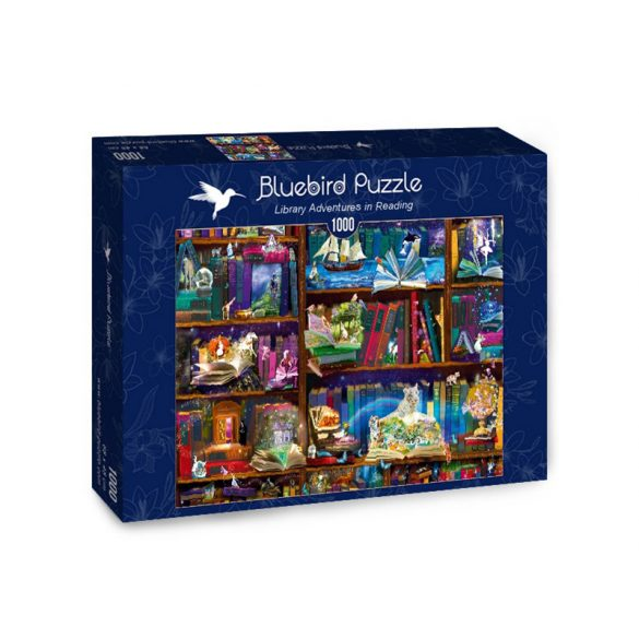 Bluebird 1000 db-os Puzzle - Library Adventures in Reading - 70313