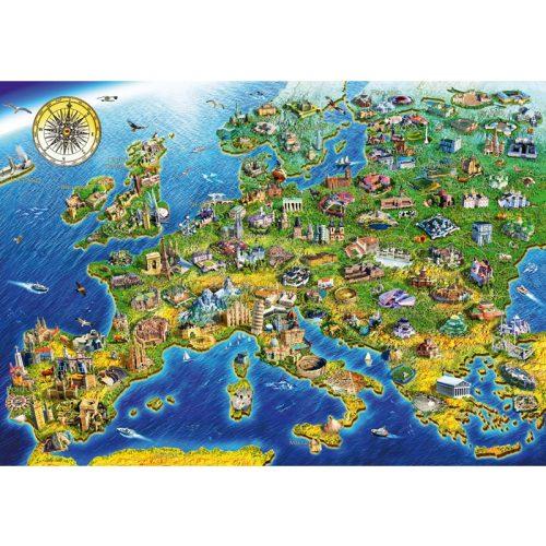 Bluebird 1000 db-os Puzzle - European Landmarks - 70322