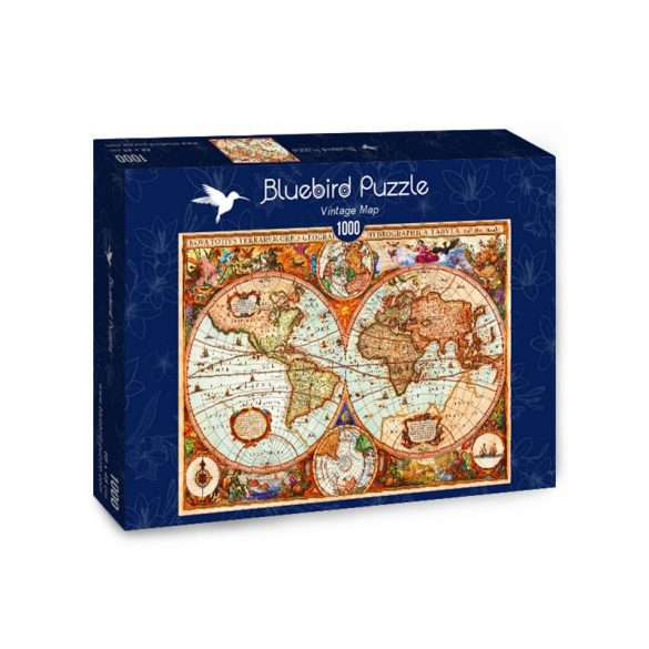 Bluebird 1000 db-os Puzzle - Vintage Map - 70329