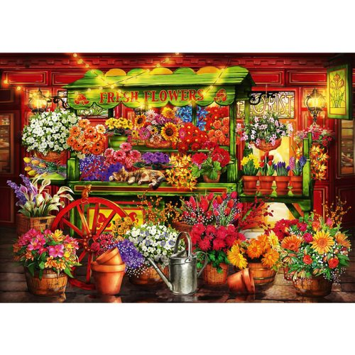 Bluebird 1000 db-os puzzle - Flower Market Stall - 70333