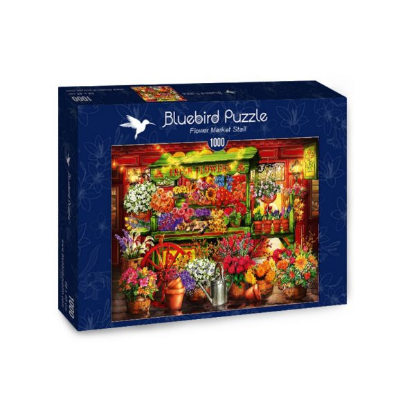 Bluebird 1000 db-os puzzle - Flower Market Stall - 70333