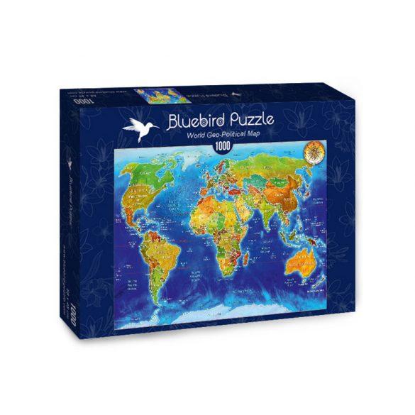 Bluebird 1000 db-os Puzzle - World Geo-political Map - 70337