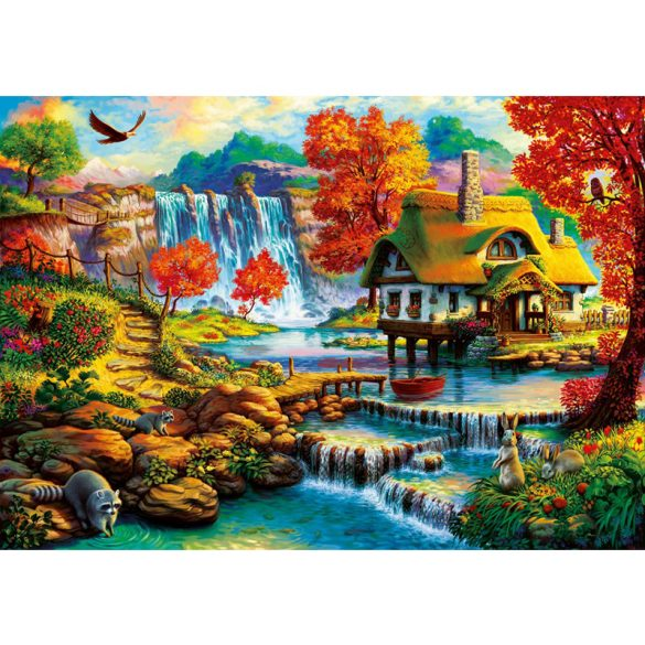 Bluebird 1000 db-os Puzzle - Country House by the Water Fall - 70339