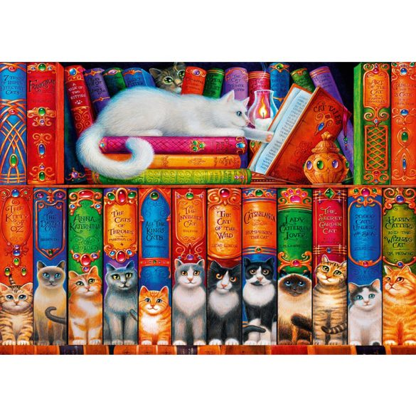 Bluebird 1000 db-os Puzzle - Cat Bookshelf - 70344