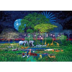 Puzzle 2000 db-os - Állatok a dzsungelben  - Clementoni