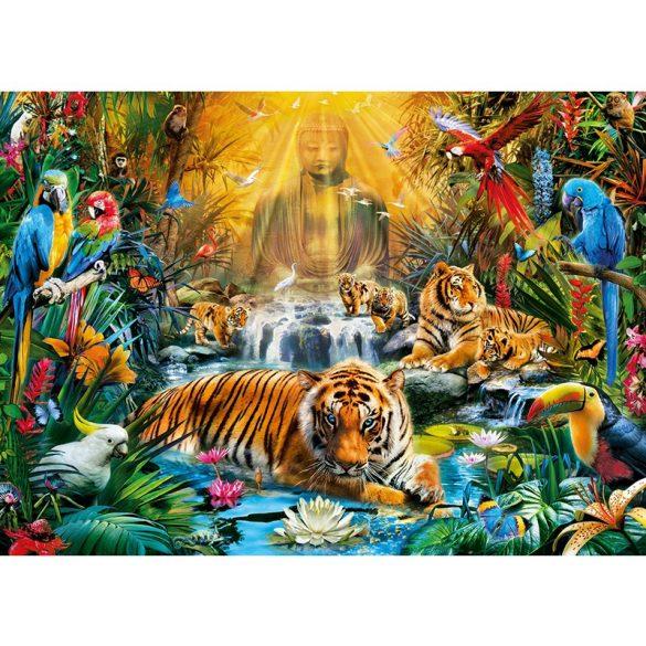 Puzzle 1000 db-os - Rejtélyes tigrisek - Clementoni 39380