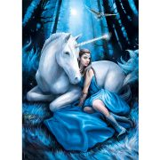 Puzzle 1000 db-os - Anne Stokes: Kék hold - Clementoni 39462