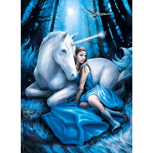 Puzzle 1000 db-os - Anne Stokes: Kék hold - Clementoni 39462