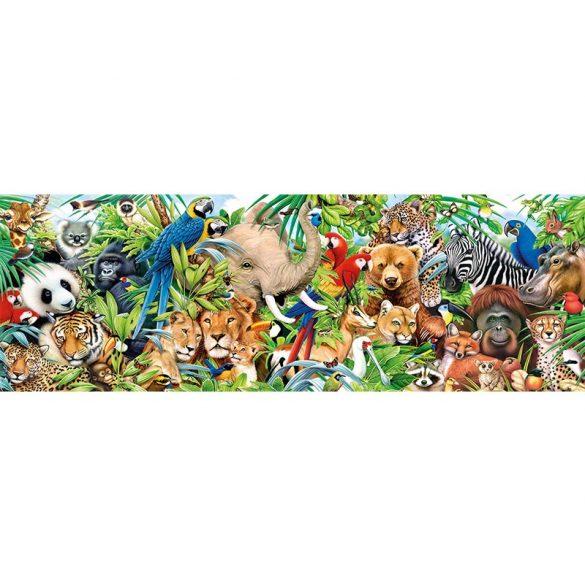 Puzzle 1000 db-os Panoráma - Állatkák - Clementoni 39517