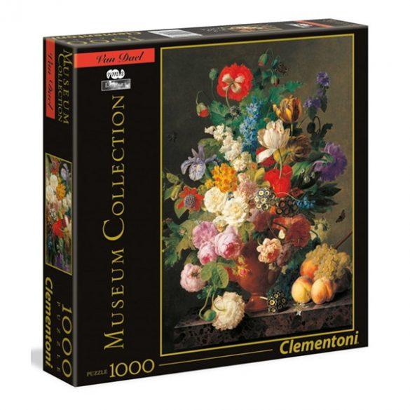 Clementoni 1000 db-os Múzeum Kollekció puzzle négyzet alakú dobozban - Van Dael - Csendélet gyümölcsökkel 94928