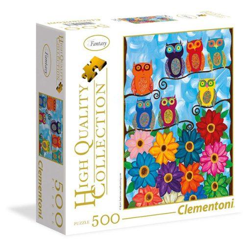 Clementoni 500 db-os puzzle négyzet alakú dobozban - Aranyos baglyok 95978