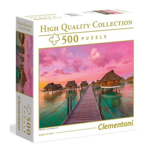 Clementoni 500 db-os puzzle négyzet alakú dobozban - Naplemente a paradicsomban 96156