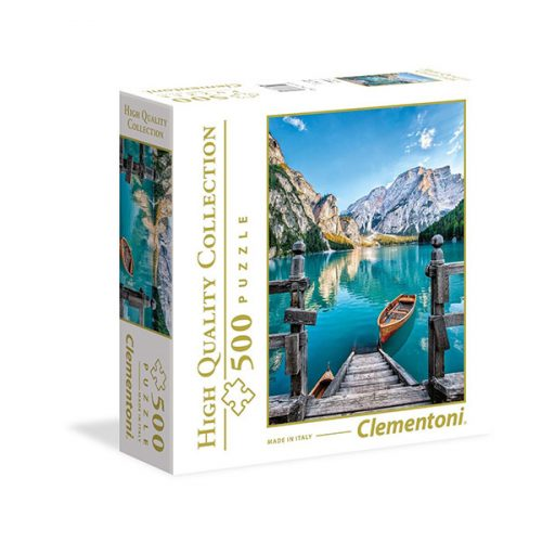 Clementoni 500 db-os puzzle négyzet alakú dobozban - Braies-tó 96158