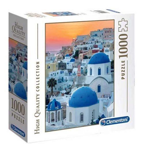Clementoni 1000 db-os puzzle négyzet alakú dobozban - Santorini 97633