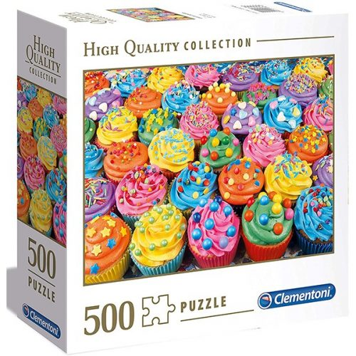 Clementoni 500 db-os puzzle négyzet alakú dobozban - Cupcake 97634